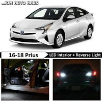 White Interior Reverse LED Lights Package Kit Fits Toyota Prius Prime 2016-2018