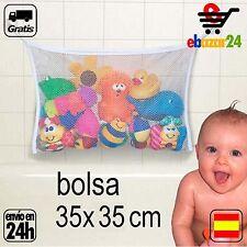 organizador 35x35 juguetes bañera Niños bebé baño juguete agua almacenamiento  *