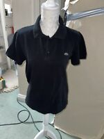 MENS LACOSTE Black POLO T-SHIRT SIZE MEDIUM 5 100% AUTHENTIC GREAT CONDITION