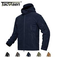 TACVASEN Mens Tactical Recon Zip Fleece Jackets Airsoft Security Police Coats