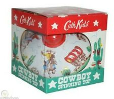 Cath Kidston Spinning Top Cowboy Toy New Box Bnwt Rare Metal kids retro vintage