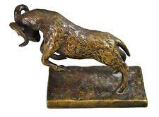 bronze animalier ancien signé P.J Mêne mouflon Corse