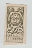 Poland Revenue Fiscal Stamp 12-16a-- 16h imperf - nice -