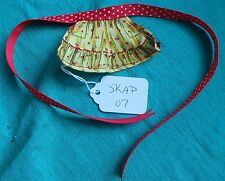 Yellow Half Apron with Red Ties for Skipper Barbie Doll or HS Musical SKAP07