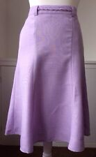 NEW Womens Skirt Size 12 Ladies Lilac Stretch Lined Plait Belt Summer Elastic