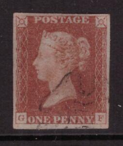 1841 Penny Red Imperforate SG 8 SUPERB used MALTESE CROSS FOUR HUGE MARGINS GF