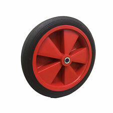 "250mm.(10"") Solid Rubber Tyre Wheel. Reducer 12.5mm bore. Wheelbarrow/Truck.*"