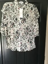 New Anthropologie Lily and Lionel Silk Ivory Top, Medium, RRP £225