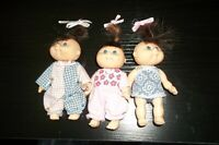"Vintage CABBAGE PATCH KIDS Dolls Small Hard Body Jointed Dolls 4"" guc+"