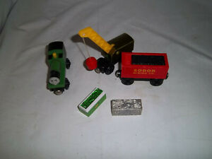 THOMAS & FRIENDS WOODEN LEARNING CURVE VNTG SMUDGER BREAKDOWN TRAIN COAL CAR GUC