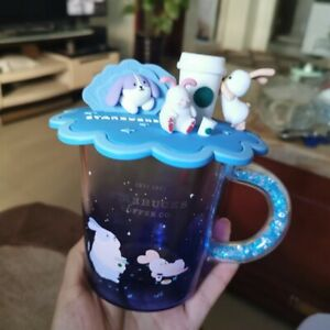 NEW Starbucks Moon Rabbit Tasting Coffee Glass Cup Lid 2020 Limited Edition Gift