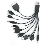 Great Universal 10 in 1 USB Multi Charger Phone Cable For Nokia iPhone CO