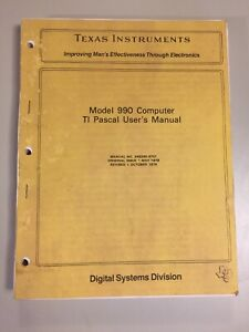 Vintage 1978 TEXAS INSTRUMENTS Model 990 TI Pascal Users Manual Complete VHTF