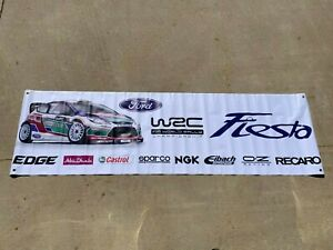 Ford Fiesta Racing Garage Shop Banner