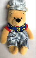 "Disney Collectible Winnie the Pooh Stuffed Plush Choo Choo Pooh 8"" Bean Bag"