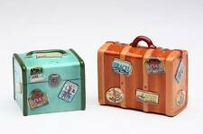 62507 Retro 1950's Road Trip Suitcase Luggage Salt Pepper Shaker Set Route 66