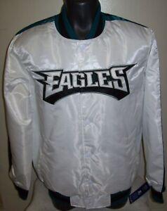 PHILADELPHIA EAGLES Starter Snap Down Jacket  M XL Special WHITE