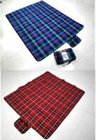 Waterproof Blanket Picnic Rug Mat Outdoor Beach Camping Festival Red Or Blue