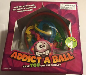 ADDICT-A-BALL LARGE SPHERIC 3D MAZE GAME PUZZLE 1 BOXED TOY BY KIDULT