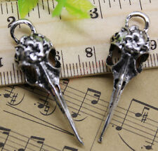 Free Shipping 5pcs Jewelry Making crow skull Alloy Charm Pendant DIY 42x12mm