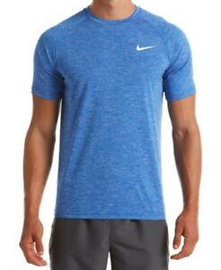 New Nike Men's Hydroguard Dri-fit Stretch Upf 40+ Heather Rash Guard M S0125