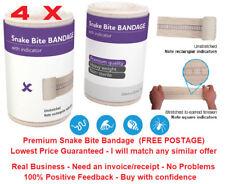 4 x Premium Snake Bite Bandage with compression indicator. 10cm x 10.5m