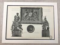 1931 Antik Architektonisch Aufdruck Neo Klassische Architektur Royal Mantel von