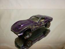 HOT WHEELS RED LINE 1:64 - CUSTOM CORVETTE 1968  METALLIC purple- GOOD CONDITION