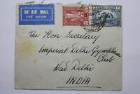 IRAQ TO INDIA AIR MAIL 1929 VERY RARE BAGHDAD 70 SQUADRON RAF A95 DAIR179