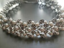 Pearl And Rhinestone Statement Wedding Special Occasion Necklace