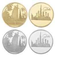 WR UAE Architecture Dubai City Bulding GOLD Tourist Token Coin Set Souvenirs 24K