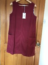 Lily And Me Pinafore Dress Earth Red ( Raspberry) Size 12 Fine CorduroyRRP £58