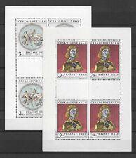 1970 MNH Tschechoslowakei kleinbogen Mi 1943-44