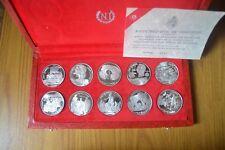 SERIE SPECIALE COMPLETA REPUBLIQUE TUNISIENNE 10 MONETE 1 DINAR 1969 ARGENTO 925