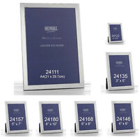 PLAIN PHOTO PICTURE FRAME SATIN SILVER HOME FRIEND XMAS PRESENT GIFTS SHUDEHILL
