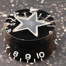 Manopola di Velocità Nero con intarsio stella d'argento per chitarre elettriche