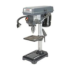 """8"""" Bench Mount Drill Press 5 Speed - Table Rotates 360° & Tilts 45° Left & Right"""