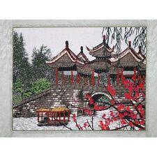 """Chinesisches Bild """"Winter in Suzhou"""", Stickbild, Stoffbild, Stickerei Stickkunst"""