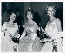 1961 Georgia Beauty Contestants Sandy Tally G Brunson Trina Davis Press Photo
