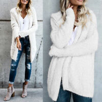 Winter Warm Oversized Women Long Loose Knitted Sweater Cardigan Outwear Coat