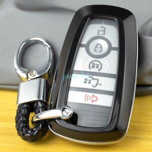 For Ford F150 Escape Fusion Ecosport Smart Car Key Chain Fob Case Cover Black