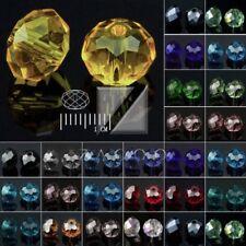 72/100/150pcs Crystal Loose Beads Czech Rondelle Jewellery 4/6/8/10/12mm BB
