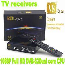 V8 Super DVB S2 NTSC 3G HD 1080P Satellite TV Receiver Support USB WiFi Youtube