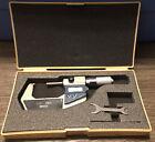 "Mitutoyo 293-726-10 Digital Micrometer 3671795 1-2"" Wrench Case Precision Measur"