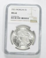 MS64 1921 Morgan Silver Dollar - Graded NGC *560
