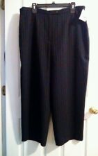 Style & Co. Collection Women's Pinstripe Black Dress Pants Size 22W NWT