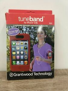 """Tuneband for iphone 4/4S Fits Arm sizes from 7 to 18"""" Red -- NEW in box"""