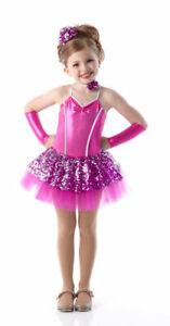 Child XS Baby Love Ballet Tutu Dance Costume w/ Neck & Headpiece