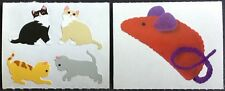 Vintage Mrs Grossman's Stickers - Cats, Kittens, Toy Mouse - Dated 1986, 2004