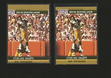 STERLING SHARPE 1990 Pro Set ERROR Miscut VARIATION #13 RARE Mistake & Correct